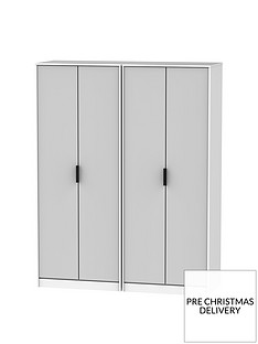 SWIFT CopenhagenPart Assembled 4 Door Wardrobe