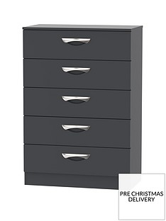 SWIFT Canterbury Ready Assembled 5 Drawer Chest