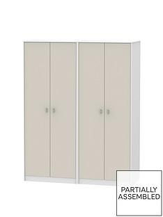 Sahara Part Assembled 4 Door Wardrobe