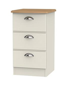 Swift Charlotte Ready Assembled 3 Drawer Bedside Cabinet With Integrated Wireless Charging