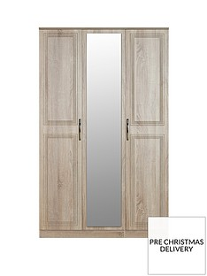 SWIFT Winchester Part Assembled 3 Door Mirrored Wardrobe