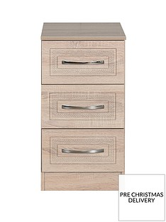 SWIFT WinchesterReady Assembled 3 Drawer Bedside Chest