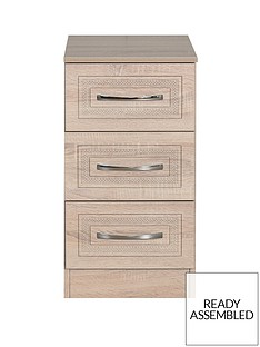 WinchesterReady Assembled 3 Drawer Bedside Chest