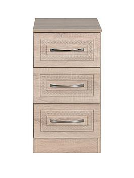 Swift Winchester Ready Assembled 3 Drawer Bedside Chest