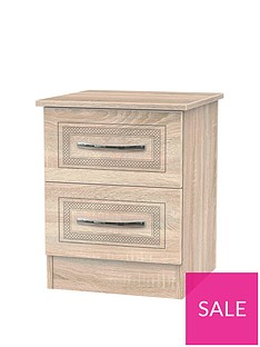 WinchesterReady Assembled 2 Drawer Bedside Chest