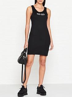 kenzo-logo-tank-dress-black