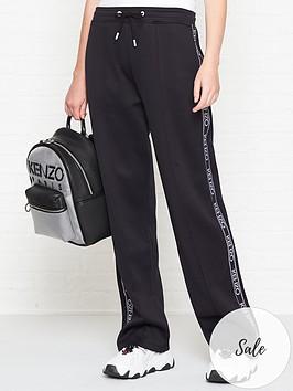 kenzo-logo-taping-sweatpants-black