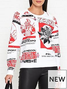 kenzo-all-over-print-sweatshirt-whitered