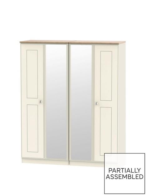 swift-charlotte-part-assembled-4-door-mirrored-wardrobe