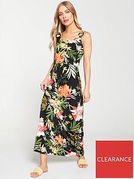 v-by-very-circle-ring-trim-maxi-dress-tropical-print