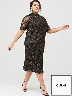 junarose-curvenbspjuli-high-neck-lace-midi-dress-black
