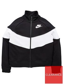 nike-sportswear-girls-heritage-colour-block-full-zip-jacket-blackgrey