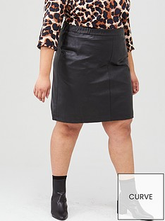 junarose-curve-savannah-imitated-leather-skirt-black