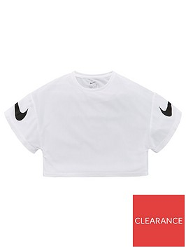 nike-girls-g-dry-short-sleeve-gfx-studio-top-whiteblack