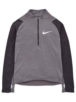 nike-kids-long-sleeve-half-zip-top-grey