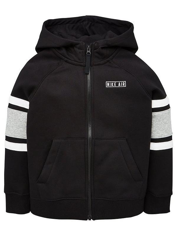 Nike Air Boys 158 170 12 15 Age Sweatshirt Black Jumper