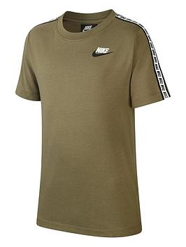 nike-sportswear-taped-t-shirt-greenwhite
