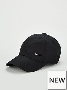 nike-kids-heritage-86-cap-with-metallic-swoosh-blacksilver