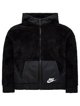 nike-sportswear-girls-sherpa-jacket-black