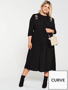 junarose-curvenbsppalomianbspembroidered-midi-dress-black