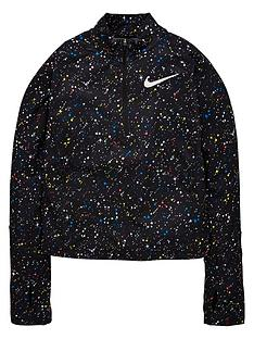nike-girls-starry-night-half-zip-printed-shine-top-black
