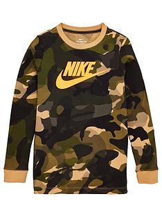 nike-childrens-camo-long-sleeve-top-khaki