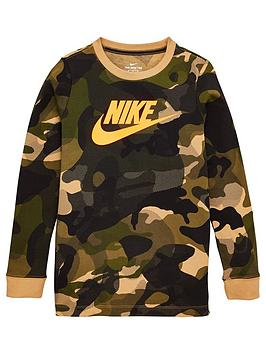 nike-childrens-camo-long-sleeve-top-khaki