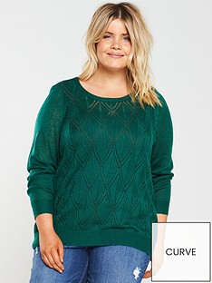 junarose-curvenbspannelinbspknitted-pullover-green
