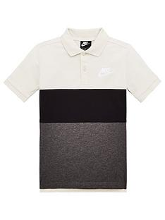 nike-childrens-nsw-matchup-colorblock-short-sleeve-polo-shirt-creamgrey