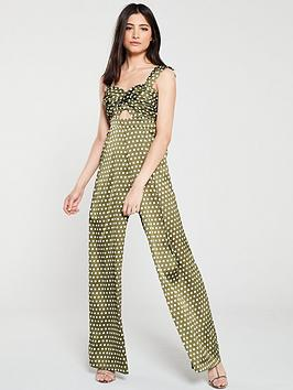 u-collection-forever-unique-spot-jumpsuit-with-keyhole-green