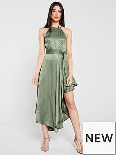 u-collection-forever-unique-halter-neck-assymetric-spot-dress-multi