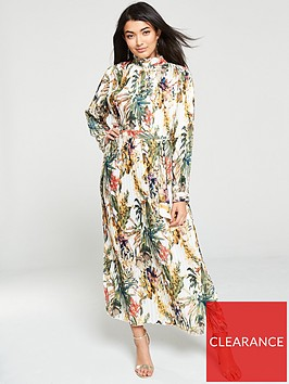 u-collection-forever-unique-tropical-pleated-dress-multi