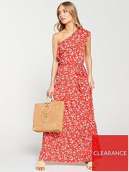 v-by-very-one-shoulder-printed-frill-dress-ditsy-print