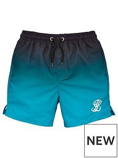 ba4ecad94cb8f Illusive London Boys Fade Swim Shorts - Black/Green