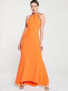 karen-millen-chain-detail-maxi-dress-orange