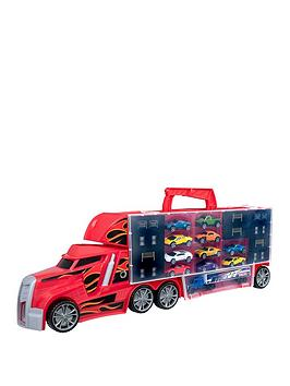 teamsterz-stunt-transporter-with-10-cars