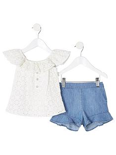 river-island-mini-mini-girls-broderie-top-outfit-white
