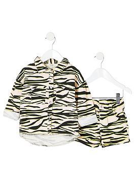river-island-mini-mini-girls-zebra-print-shacket-outfit-multi