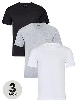 boss-bodywear-threenbsppack-v-neck-t-shirts-whiteblackgrey