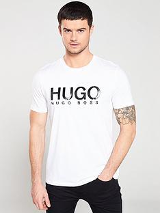 hugo-monochrome-logo-t-shirt-white