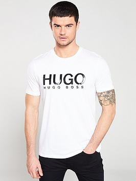 hugo-monochrome-logo-t-shirt-white