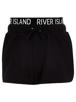 river-island-girls-ri-waistband-runner-shorts-black