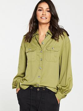 v-by-very-utility-shirt-olive