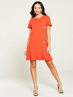 1ed0d02831cf River Island Peplum Hem Scuba Dress- Red