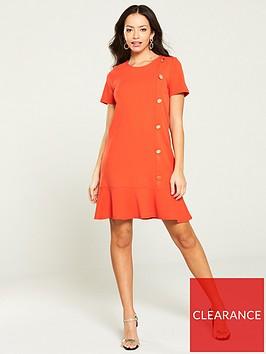 river-island-peplum-hem-scuba-dress--red