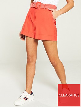 river-island-river-island-belted-tailored-short--coral