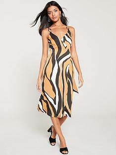 84cfb0edd6df River Island River Island Zebra Midi Slip Dress- Zebra Print