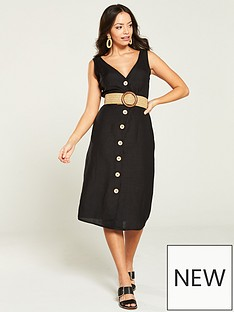 a3231e5d87f River Island swing Dress- Black