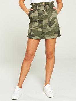 river-island-river-island-camo-print-paperbag-waist-mini-skirt--khaki