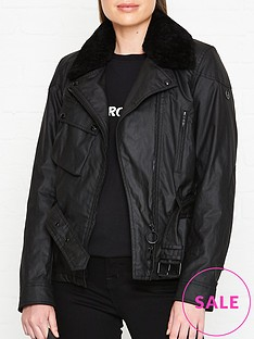 belstaff-sammy-wax-shearling-collar-jacket-black